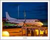 G-LGNZ SAAB S340 Loganair (flatfoot471) Tags: 2017 aircraft airline airport civilian dusk glasgowairport loganair march normal renfrew renfrewshire s340 saab scotland spring twilight unitedkingdom gbr