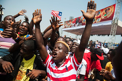 Presidential Inauguration (Albert Gonzalez Farran) Tags: ceremony democracy elections inauguration politics president presidential stadium victory monrovia liberia