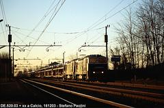 Goggles and cars (di Stefano ©Praz Paolini) Tags: de520 fnm ferrovie nord cargo db italia romano chiari d753