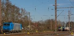 01_2018_02_18_Wanne_Eickel_Üwf_6185_530_ATLU_4475_407_BLSC_6185_523_ATLU_6186_906_D_XRAIL_ES_64_U2_-_096_6182_596_DISPO.CR2 (ruhrpott.sprinter) Tags: ruhrpott sprinter deutschland germany allmangne nrw ruhrgebiet gelsenkirchen lokomotive locomotives eisenbahn railroad rail zug train reisezug passenger güter cargo freight fret herne wanne eickel wanneeickel üwf bombadier traxx siemens mrcedispo mrcedispolokdispo dispolok bls blscargo es 64 u2 es64u2 182 6182 185 6185 14475 475 diealpinisten thealpinists vectron sonnenuntergang sonne abendrot outdoor logo natur werbung advertisment