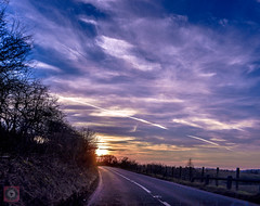 Sunset drive 5, Scotland (picsbyCaroline) Tags: drive car scotland bright sun colour sunset landscape road light