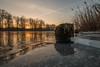 Eis auf der Havel (raschmichael) Tags: eis havel morgens oberhavel wasser
