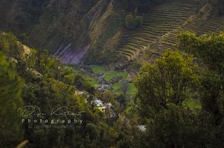 A high angle shot(village- lostu tehrigarhwal,uttarakhand)