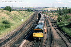 29/06/1989 - Woodhouse Junction, Sheffield, South Yorkshire. (53A Models) Tags: britishrail class58 58028 diesel freight woodhousejunction sheffield southyorkshire train railway locomotive railroad