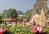 Mahabodhi temple - the origin of Buddhism (somabiswas) Tags: mahabodhi temple buddhism bodhgaya bihar india tourism worship lotus monks saariysqualitypictures