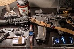 Whats on your nightstand (S.Dobbins) Tags: nightstand loadout gear iphone apple watch trayvax glock keychain serto tolerance zt0770cf elzetta alpha jim beam candle accurate armory ar15 sbr aimpoint mvb magpul armageddon fortis centurion arms aac cilencer nfa