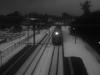 headlight (murozo) Tags: station uetsu main line train railway nikaho akita japan snow evening winter platform light 羽越本線 電車 鉄道 駅 雪 冬 夕方 にかほ 秋田 日本 kosagawa 小砂川駅