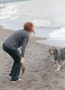 Fetch (peterkelly) Tags: digital canon 6d ontario canada northamerica wheatley lakeerie greatlakes water beach shoreline shore dog woman pet sandy sand fetch stick wood throwing