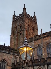 This little light of mine (katy1279) Tags: greatmalvernpriorychurchlightelectriclampoldgaslamp