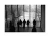 Silhouettes in Giacometti room (Esko Kumpunen) Tags: copenhagen film kodaktrix400 pushingfilm 3200