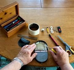 Repairs 307-365 (11) (♔ Georgie R) Tags: purse adhesivetape swissarmyknife sak scissors