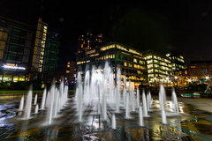 Sheffield at night (@Bradders) Tags: sheffield southyorkshire night nightphotography longexposures stars city cityscape water lights streets