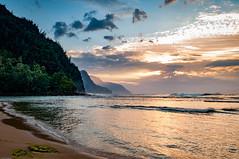 20140201-_DSC5358 (bfluegie) Tags: hawaii kauai keebeach beach ocean sunset water d90 nikond90