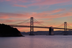 Sunset over Bay Bridge (AgarwalArun) Tags: sonya7m2 sonyilce7m2 sony sanfrancisco goldengatebridge goldengate bayareacalifornia iconicbridge pacificocean ocean bridge marincounty scenic views landscape baybridge