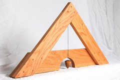 Libella Side (Mark Birkle) Tags: libella level image photo picture wood oak osage horse hair arabian tail triangle medieval tool plumb bob building construction trigonometry gravity geometry practical ancient old concept center string woodworking line past
