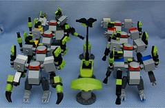 Chunky 2 Squad (Mantis.King) Tags: lego legogaming legomecha legowargaming moc mechaton microscale mobileframezero mf0 mfz mecha mech scifi futuristic wargames chunky
