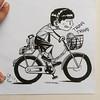 #cycling #school #art #sketchbook #dailydrawing #drawing #cartoon #stories #life #illustration #blackandwhite #brushpen (lipuster) Tags: childhood life kids india innocence stories art illustration sketch drawing