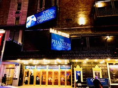 Phantom Of The Opera & Fat Man Like Oprah! - IMRAN™ (ImranAnwar) Tags: architecture iphone entertainment culture landmark citylife nightlights lifestyle phantomoftheopera musical theater broadway timessquare manhattan newyork imrananwar imran