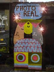 Waiting For An Eclipse (Steve Taylor (Photography)) Tags: photoreal asterix circles art graffiti mural streetart wall brick uk gb england greatbritain unitedkingdom london bear