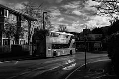 Arriva London LT498 (cybertect) Tags: 73 arriva arrivalondon lt498 ltz1498 london londonboroughofislington londonn1 londonbus n1 newbusforlondon newroutemaster newingtongreenroad olympusomzuikoshift35mmf28 sonya7 blackwhite blackandwhite bus doubledecker monochrome route73
