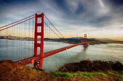 Sunset on the Golden Gate Bridge (thephotobear) Tags: california goldengatebridge usa sunset bridge clouds
