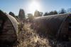 Sunshine and Frost (The Crewe Chronicler) Tags: canon canon7dmarkii powcamp pow camp huts nissen nissenhut sun sunshine frost
