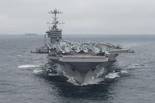 USS Harry S. Truman transits the Atlantic Ocean.