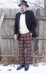 2-18-2018 Today's Clothes (Michael A2012) Tags: hut spanke velour fedora hat fur felt this mans winter style vintage fashion brooksbrothers cashmere wool deanofscotland geoffreybeene llbean tartan florsheim boots