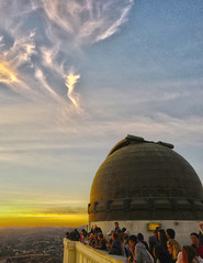 Sharing a magical moment (LezlieN) Tags: clouds sky sunset observatory griffith