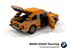 BMW 2002 Touring (lego911) Tags: 02 2002 touring brake break shooting hatch hatchback 1971 classic germany auto car moc model miniland lego lego911 ldd render cad povray 1970s bmw