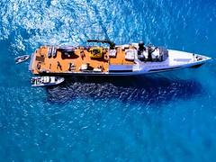 "Motor yacht ""Axis"" captured in the Bahamas (Daniel Piraino) Tags: yacht boat bahamas drone shotondrone aerial dji p4p axis superyacht water dronephotography"