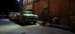 Night Shift (gpholtz) Tags: diorama miniatures 118 diecast ford pickup truck 1959