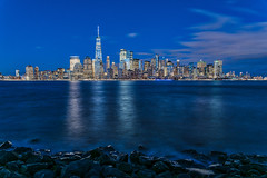 10:52 The New York Blues (Woodlands Photog) Tags: new york city skyline cityscape blue hour nighttime