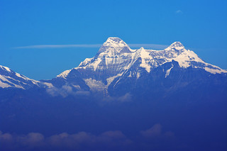 Mighty Nandadevi (25,640ft) rising above clouds