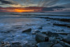 Lavernock Point (geraintparry) Tags: lavernock point vale glamorgan sky skies cloud clouds south wales beach cardiff reflection water landscape coast sea morning outdoor seaside shore dawn skyline boardwalk geraint parry geraintparry sunrise rocks bracket bracketing ocean rock