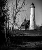 One Of Many (Wes Iversen) Tags: clichesaturday easttawas hcs michigan nikkor24120mm tawaspointlighthouse tawaspointstatepark blackandwhite digitalart lighthouses monochrome painterly