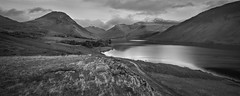 Wasdale mono (Ade G) Tags: bw landscape seasons lakes mountains panorama snow winter