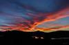 Now Pink Orange (Jocey K) Tags: newzealand nikond750 southisland bankspeninsular akaora akaoraharbour sea water sunset hills scene sky clouds trees reflections silhouettes