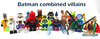 Batman combined villains (WhiteFang (Eurobricks)) Tags: lego minifigures cmfs movie blockbuster dc comics heroes bad guys baddies hero characters city town superheroes costume collections collectable fleshie licensed batman superman