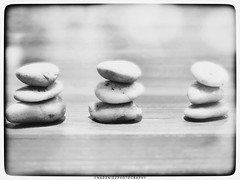3 z e n   |  #three'sacrowd |  #madebyme (NadzNidzPhotography) Tags: lifebalance arrange balance madebyme smileonsaturday 7dwf nadznidzphotography flickrfriday three'sacrowd stone zen blackandwhite blackandwhitephotography contrast