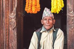 Patan Durbar Square, Kathmandu, Nepal (Sajivrochergurung) Tags: nepal portrait kathmandu smile flowers