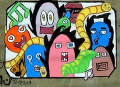 Graffiti (Khaled M. K. HEGAZY) Tags: nikon coolpix p520 fayoum tunisvillage egypt outdoor closeup graffiti streetart red green yellow blue brown white orange violet pink purple black