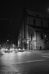 Old school mobility (mripp) Tags: art vintage retro old church cars car mobile mobility driving street night nacht black white mono monochrom sony rx1rii