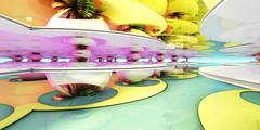 Summer colors (eXalk) Tags: fantasy fractal fragmentarium computergrafik colors design digital dream circle