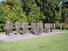 Standing Figures (Thirty Figures) (procrast8) Tags: kansas city mo missouri nelson atkins museum art sculpture standing figure thirty magdalena abakanowicz