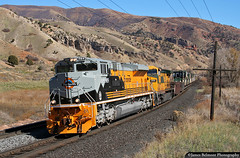The Rio Grande Heritage SD70ACe (jamesbelmont) Tags: spanishforkcanyon rednarrows rio drgw riogrande unionpacific utah emd sd70ace heritage railway cnw ge ac4400cw