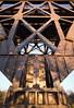 cantilever bridge 03 feb 18 (Shaun the grime lover) Tags: warrington bridge detail latchford cantilever manchester ship canal cheshire iron steel lattice girder rivets