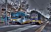 SACRAMENTO--133 (l, IB), 127 at 13th Street (milantram) Tags: electricrailtransport railsystemssacramento sacramento rtmetro goldline blueline streetcars trolleys trams lightrail
