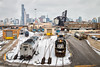 Not Like the Others (Wheelnrail) Tags: emd ns norfolk southern bc06 continental paper downtown chicago skyline gp60 diesel shop amtrak amtk sc44 charger loco rails railroad winter local saint charles airline freight lumber street 16th 17th ge passenger
