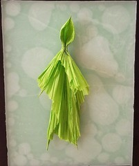 Will o' Wisp (uqbarryn) Tags: mystic creature mythical art folding paper origami